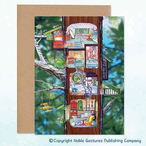 'Penelope's Treehouse' Note Card