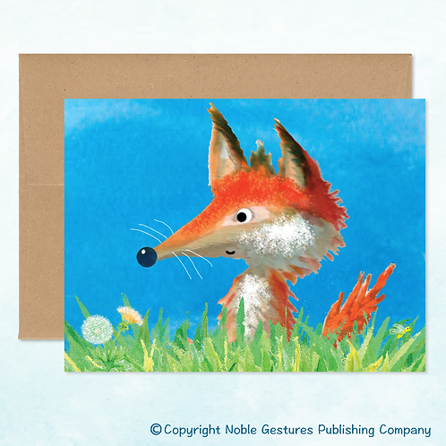 'Cool Fox' Note Card