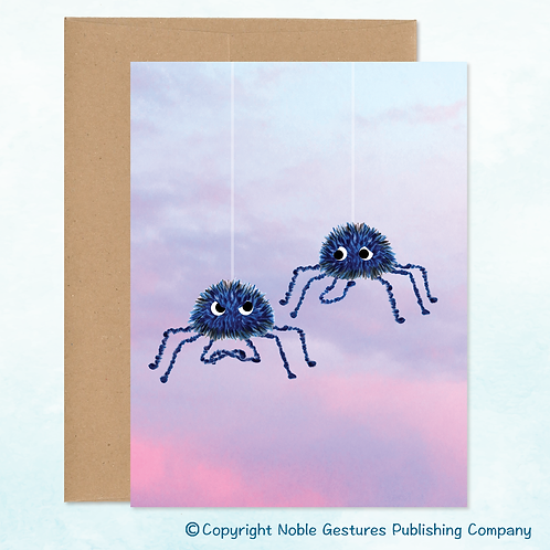 'Spider Buddies' Note Card