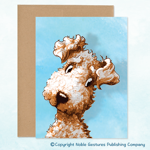 'Toby Dog' Note Card