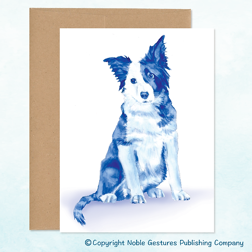 'Blue Border Collie' Note Card