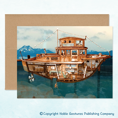 'Toby's Boat' Note Card