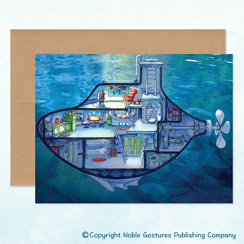 'Corky's Submarine' Note Card