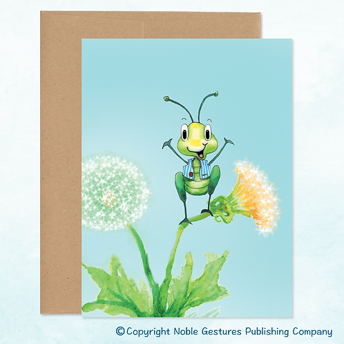'Tommy Cricket' Note Card