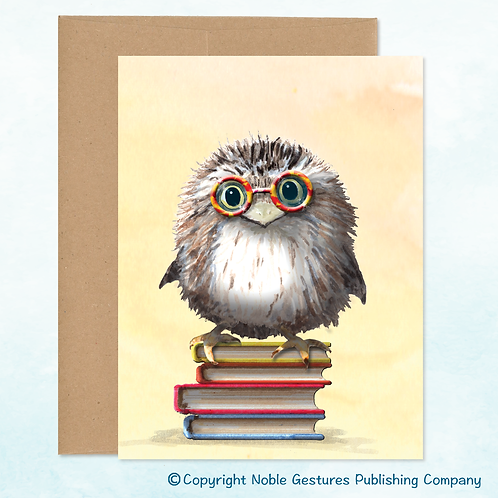 'Book Owl' Note Card