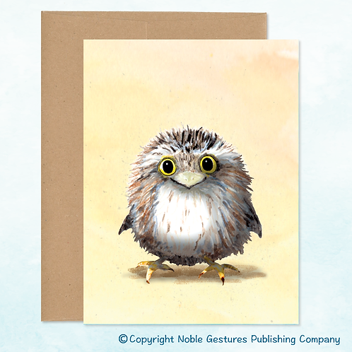 'Happy  Owl' Note Card
