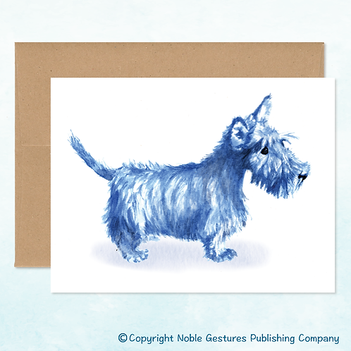 'Blue Scotty' Note Card