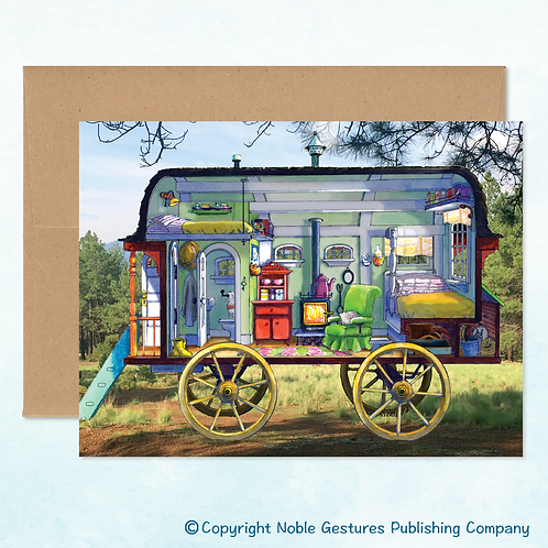 'Chloe's Wagon' Note Card
