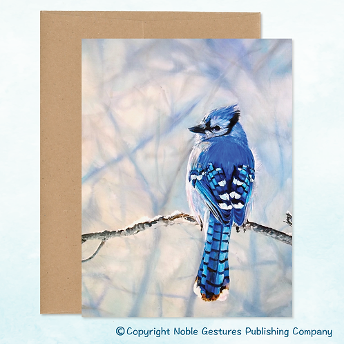 'Winter BlueJay' Note Card