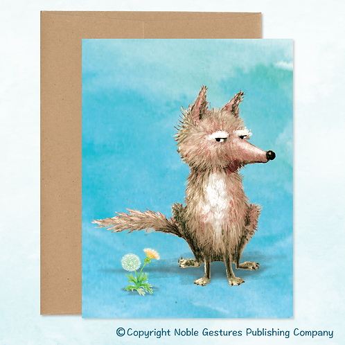 'Sly Coyote' Note Card