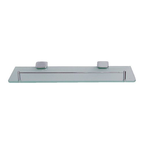 2652-412 18''x5''x8mm Glass Shelf with CP Bracket & Brass Barrier