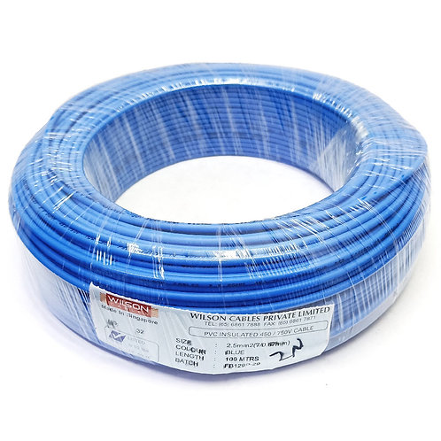 Blue 2.5MMx100M Cable