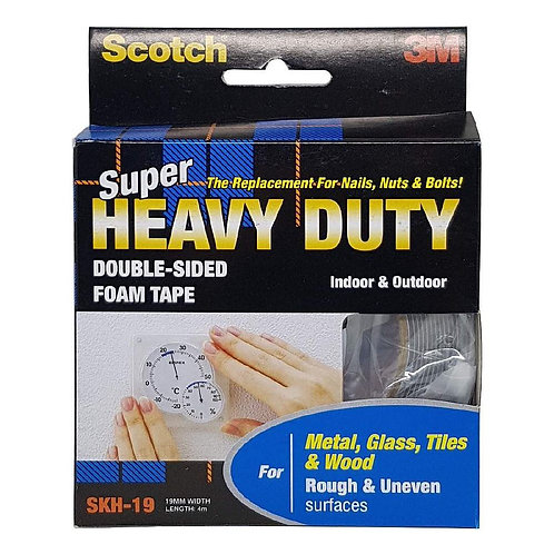 3M Scotch SKH-19 Double-Sided Foam Tape 19mmX4m Heavy Duty