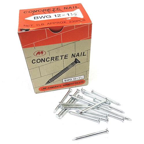M BWG 12x1-1/2'' Concrete Nail Net. 1LB