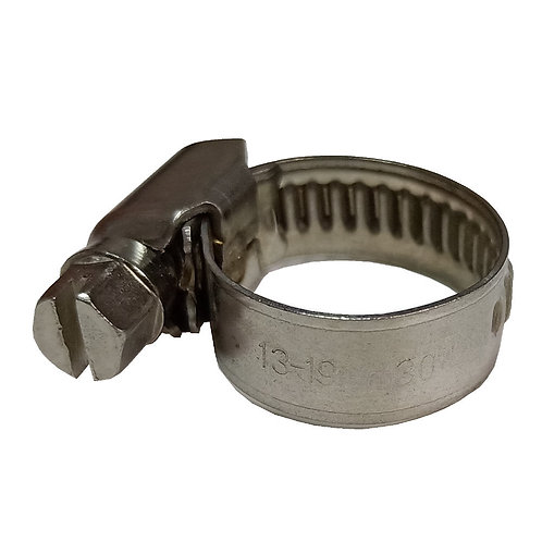 6660 Hose Clip 10mm-16mm Screw Handle SS