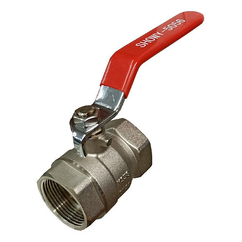 5056 Red Long Handle FF Ball Valve 1-1/4'' STD