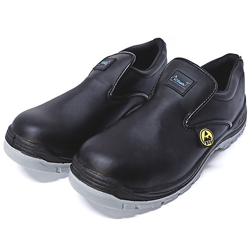 AcesafeT Piston (19607) Low Cut Slip-on Composite Toe-Cap Anti-Perforation Board Metal-Free ESD Safety Shoes (Front)