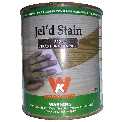 Jel'd Stain Traditional Walnut 213 Wood Kote 946 ml