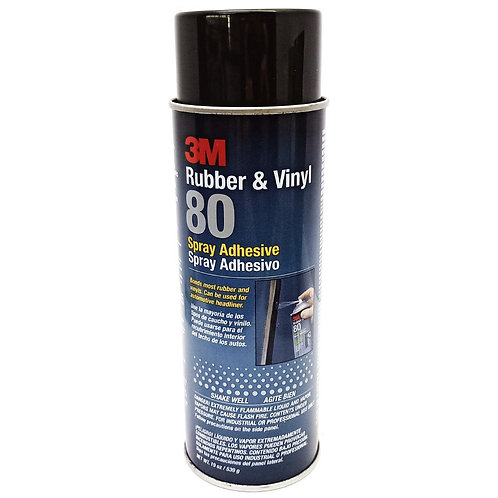 3M 80 Rubber & Vinyl Spray Adhesive NW 19oz (539g)