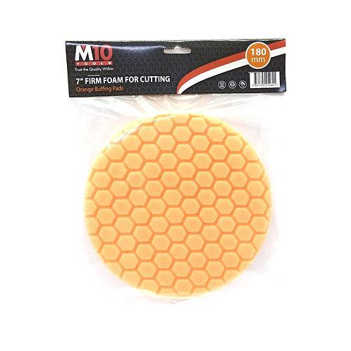 "M10 7"" Firm Foam Orange Buffing Pad (Cutting)"