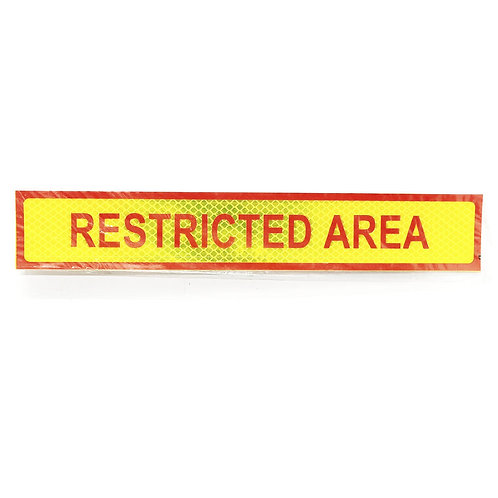 """2""""x12"""" Restricted Area Label"""