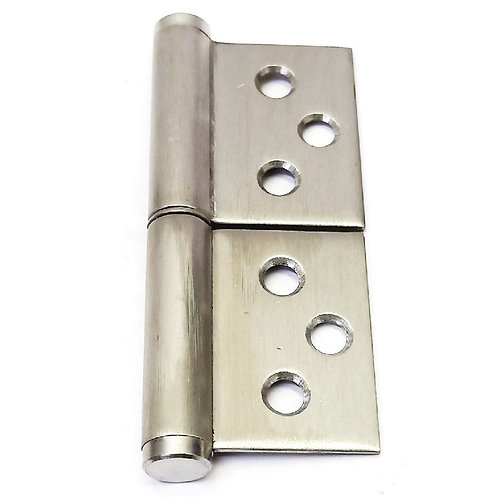 Flag Hinge 6 Screw Holes 76(H)x60(O)x2mm(T) SS