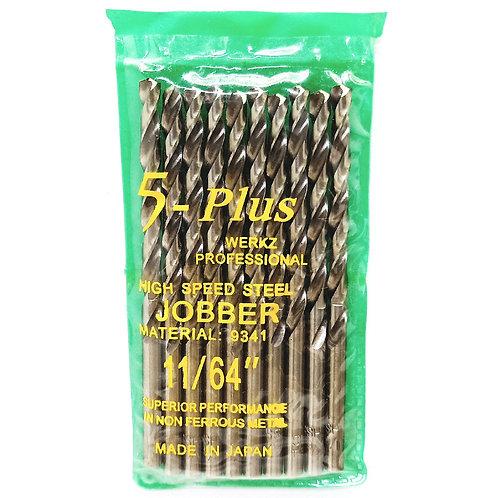 5-Plus Jobber 11/64'' Drill Bit HSS