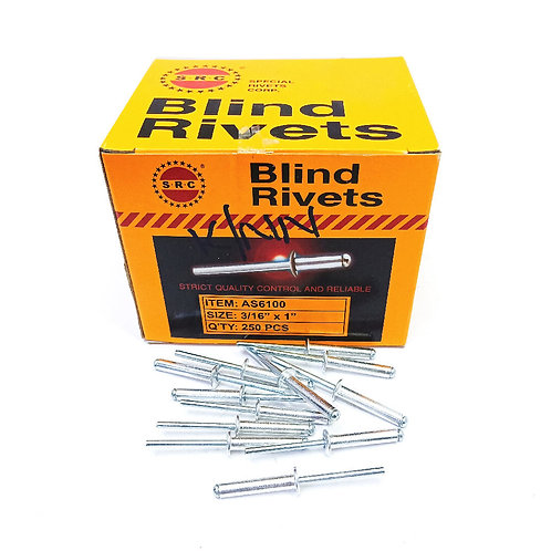 S.R.C 3/16''x1'' Alum Blind Rivets AS6100