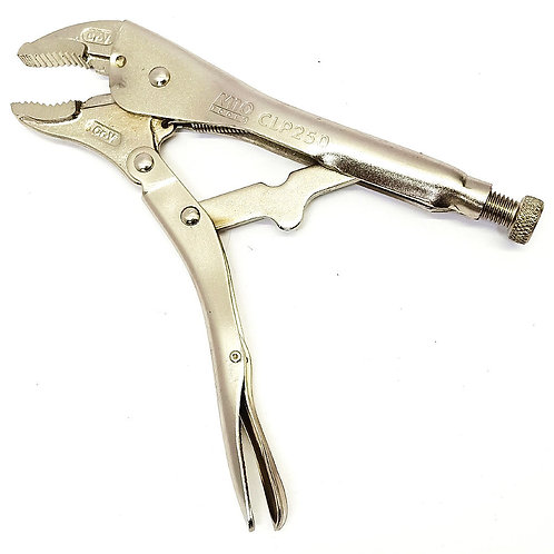 "M10 CLP-250 10"" Curved Jaw Locking Plier 40mm Cap"