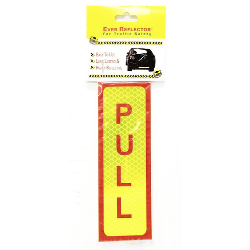 "2""x6"" Pull Label (Red Wording)"