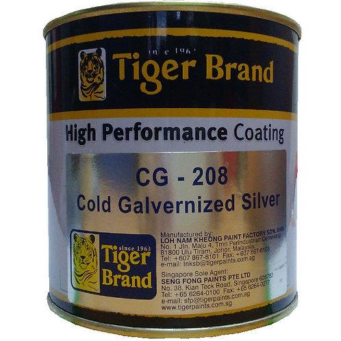 Tiger Brand High Performance Coating CG-208 Cold Galvernized Silver 1L