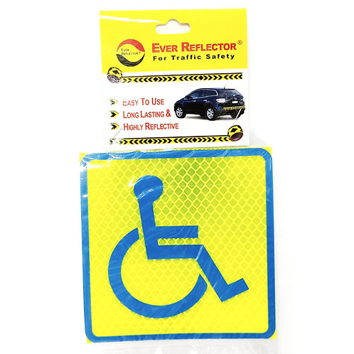 """4""""x4"""" Handicap Label"""