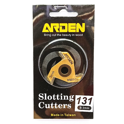 #131 3mm Arden 3 Wing Slotting Cutter