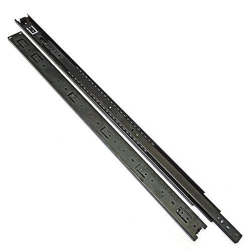 """28"""" (700mm) Black Full Extension Drawer Slide"""