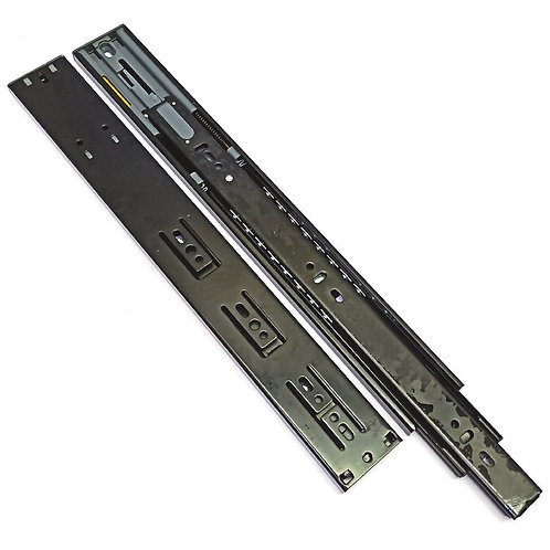 """14"""" Black Full Extension Ball Bearing Drawer Slide with Soft Closing"""