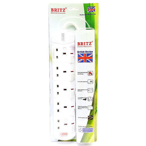 BRITZ (6M) BR-2800-5D 5GANG PSO Extension Socket