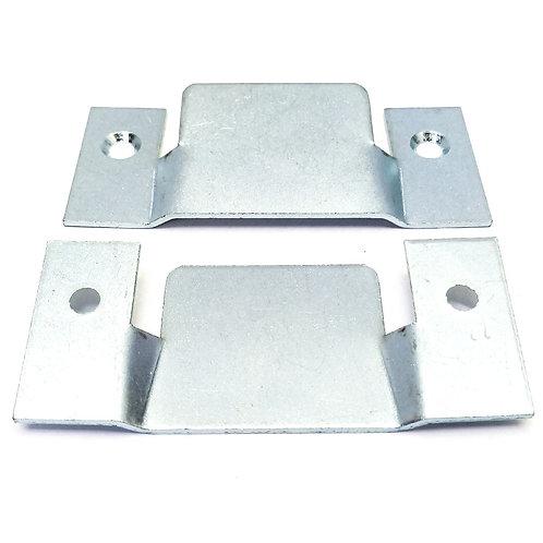 A-600 Overlap Joint Blue Zinc Plated 97x41x3mm 2PCS Pack