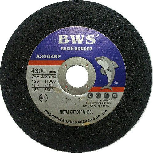 BWS Resin Bonded A30Q4BF Metal Cut off Wheel 6'' 150x3x22
