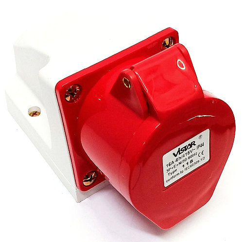 115 5P-16A Industrial Wall Socket IP44 415V