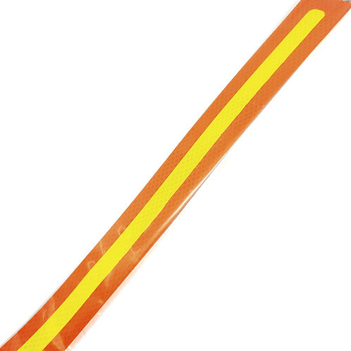 "1.75""x24"" Yellow on Orange Reflective"