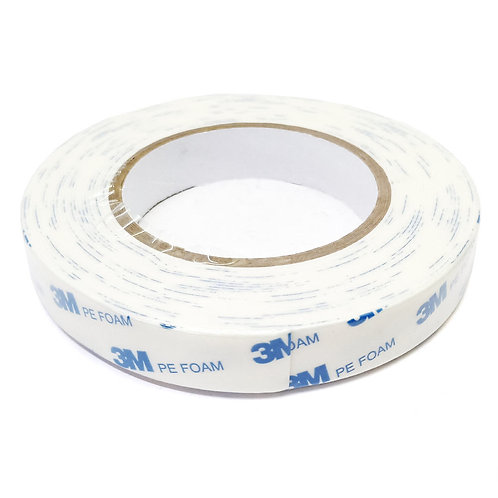 3M PE Foam Tape White 20mmX8m 303-1600/W-2