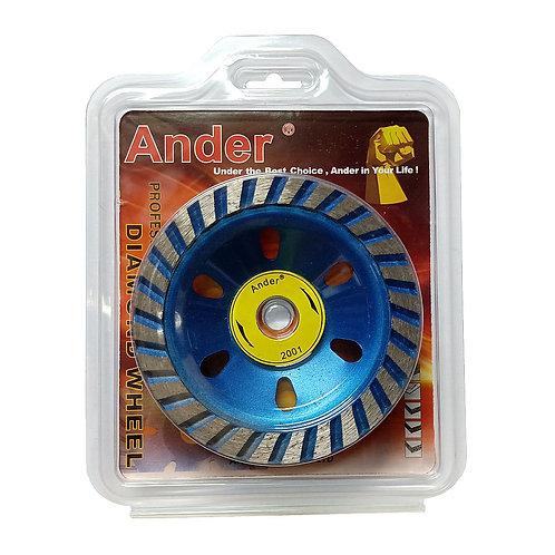 Ander 4'' Cup Diamond Wheel Blue 100x16mm
