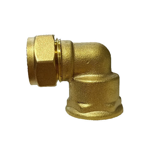 5024 15mm 1/2'' Brass CxFl Elbow