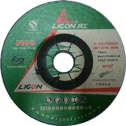Licon Flexible Disc 4 inch 3mm WA80 Green FD-L04