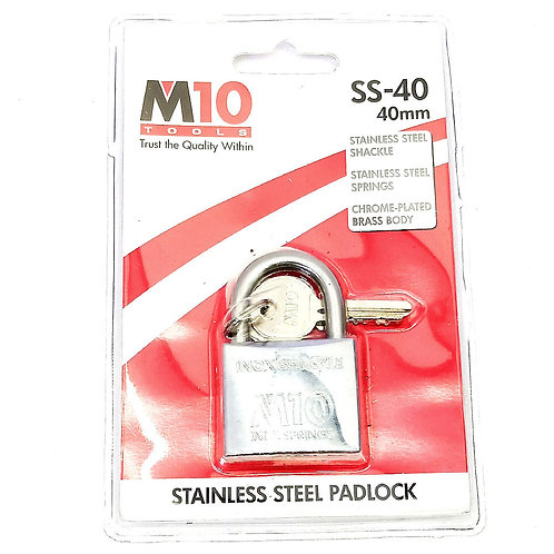 M10 SS-40 SS Shackle Padlock 40mm