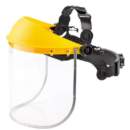 Grinding Face Shield Yellow Top