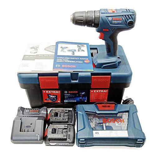BOSCH GSB 180-LI 18V Cordless Impact Drill (2B+41PCS Kit) (601 9F8 3L2)