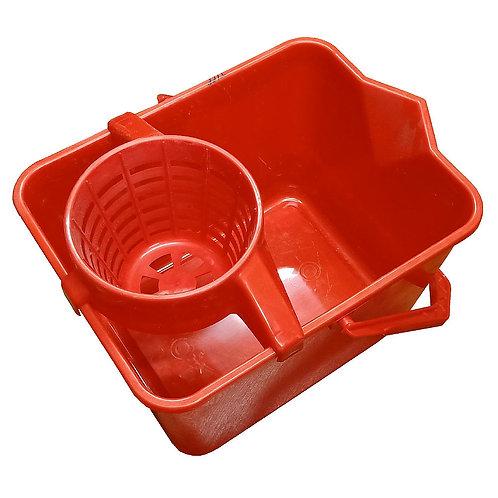 Eday 1392 Mop Buckets with Castors Red
