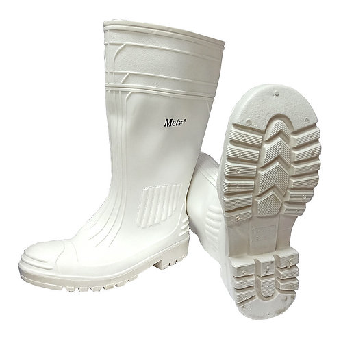 Metz Safety Rubber Boots (White)