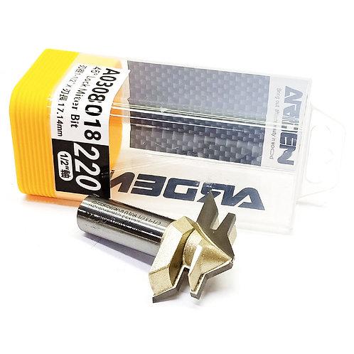"""#220 1/2""""x1-1/2""""x17.14mm Arden 45^ Lock Miter Bit"""